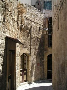 Street in the Christian quarter of Aleppo, Syria Syria Country, Places Around The World, Around The Worlds, Aleppo City, Land Before Time, Cradle Of Civilization, Islamic Architecture, Old City, City Streets