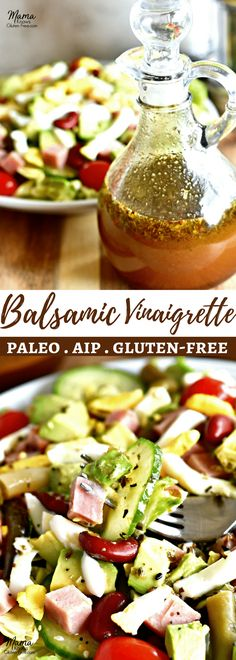 Simple to make with healthy ingredients you already have in your kitchen. Paleo, gluten-free, dairy-free, no refined sugar and Auto Immune Protocol diet. Sugar Free Salad Dressing, Salad With Balsamic Dressing, Vinaigrette Salad Dressing, Salad Dressing Recipes, Salad Dressings, Healthy Dressing For Salads, Paleo Dressing, Best Salad Dressing, Italian Dressing