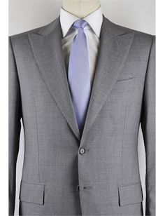 Cesare Attolini Light Gray Suit – Size: 44 US / 54 EU. Click here for more Cesare Attolini Suits http://www.shopthefinest.com/nsearch.aspx?Brand=Cesare%20Attolini&Categorypath=Clothing%3ESuits&display_type=Grid from ShopTheFinest.com