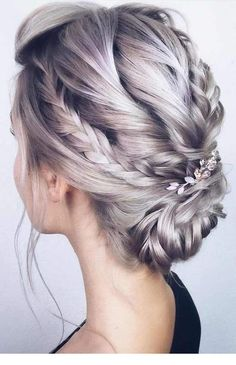 42 Boho Wedding Hairstyles ❤️ boho wedding hairstyles low updo with braids o. - Wedding, Peinados, 42 Boho Wedding Hairstyles ❤️ boho wedding hairstyles low updo with braids o. Prom Hairstyles For Long Hair, Fancy Hairstyles, Hairstyles Haircuts, Hairstyle Ideas, Boho Updo Hairstyles, Long Haircuts, Hairstyles Pictures, Up Dos Short Hair, Grey Hair Updos