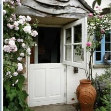 Every cottage needs a stable door.  I had one once and I loved it