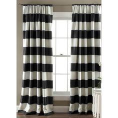 Lush Decor Stripe Room Darkening Curtain Panel & Reviews | Wayfair Supply