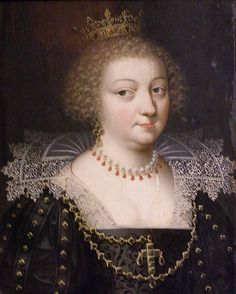 Portrait of Anne of Austria, (c.1620) Reinette  ~  Artists of the Dumonstier family