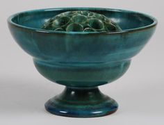 View Pedestal vase and flower holder by Linnware on artnet. Browse upcoming and past auction lots by Linnware. Green China, Flower Holder, Flower Frog, Urban City, Art Object, Pedestal, Decorative Bowls, Blues, Objects