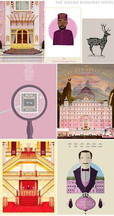 The Grand Budapest Hotel art @ Earl Grey Blog