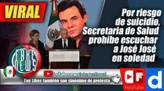 Secretaria de Salud prohíbe escuchar a José José en soledad