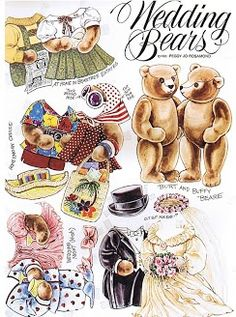 Teddy Bear and Friends - Burt and Buffy the Wedding Bears