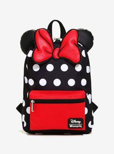Disney Minnie Mouse Ears Polka Dot Canvas Backpack Book Bag New with Tags Minnie Mouse Heels, Minnie Mouse Backpack, Disney Minnie Mouse Ears, Disney Handbags, Disney Purse, Cute Mini Backpacks, Girl Backpacks, Canvas Backpack, Backpack Purse