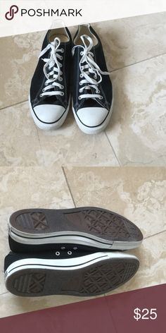 Black converse Black converse like new worn once bought wrong size Converse Shoes Sneakers