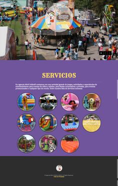 Cliente: Agencia Movil Infantil  Sitio de servicios infantiles recreativos.