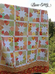 Made to Order Patchwork Star Quilt by SewEMG on Etsy, $250.00