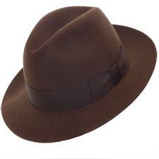 "Cervo Biella Fur Felt Fedora Hat; Crown 4""; Brim 2 1/2"" plain edge"