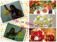 http://youtu.be/zk0QfPZQjaY Diy: Globo de flores decorativo -  Faça você mesma  - Decoração Chic Globo de flores decorativo o mais usado em casamento, 15 anos festas em geral. Faça você mesma e economize .