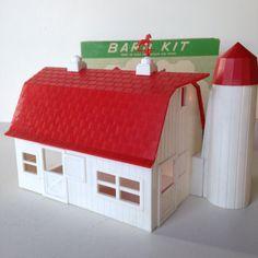 Wk plasticville ho model railroad plastic building kits for Complete barn home kits