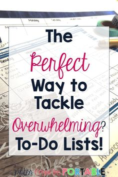 Simple tips for tackling teacher to-do lists! Great for planning and managing your time.