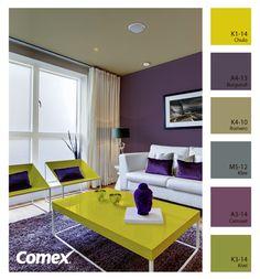 Utiliza colores llamativos que contrasten y transformen ese espacio en algo especial.    #Comex #combinaciones #decoracion #hogar #inspiracion