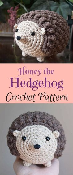 Crochet Amigurumi Pattern: Honey the Hedgehog, Hedgehog Crochet Pattern, Toy, Stuffed Animal #hedgehog #toy #baby #kids #gifts #affiliate #craft #crochet