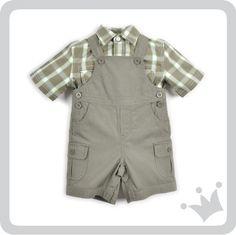Para los bebés hoy recomendamos un look que encanta. Una braga color verde olivo con una camisa manga corta a cuadros estilo picnic que robará más de un aliento ¿Qué les parece? #epkmegusta   http://www.shopepk.com.co/index.php?page=shop.product_details&flypage=flypage_look.tpl&product_id=722&category_id=167&option=com_virtuemart&cat=26&Itemid=69
