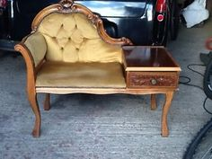 Telephone chair/table -old