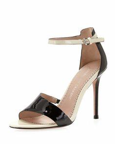 Olympe Patent Leather Sandal, Black/Cream by Jean-Michel Cazabat. $127 (reg$230)