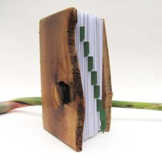 Address book Wood covers Olive wood Notebook with dividers Local wood. €40,00, via Etsy.