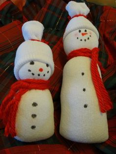 Easy Sock Snowman Tutorial with Ashley                                                                                                                                                     More