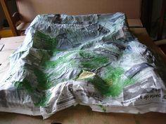 Creation de decor pour la creche tuto petite montagne ou rocher santons et cr ches de - Decor creche de noel provencal ...