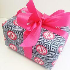 #preppy #monogram gift wrap
