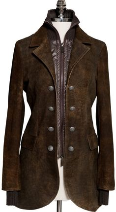 Cool steampunk canvas or denim jacket.