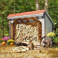 Firewood Storage Shed, via Better Homes & Gardens