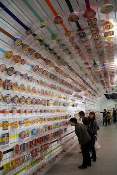"The ""Instant Ramen Tunnel"" in Ikeda, Osaka, Japan. It's not every day you see noodles all over the walls of a tunnel!"