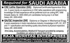 Global Jobs Observer: MULTIPLE RESOURCES REQUIRED IN SAUDIA ARABIA