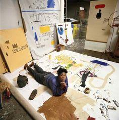 L'image du jour  Atelier Jean-Michel Basquiat