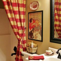 French country bathroom by Debbie @ ConfessionsofaPlateAddict.blogspot