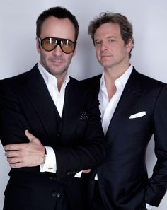 Every girl is crazy about a sharp dressed man! Tom Ford and Colin Firth. Tom Ford Suit, Tom Ford Men, Colin Firth, Sharp Dressed Man, Well Dressed Men, Tom Ford Herren, Beautiful Men, Beautiful People, Toms