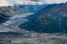 River valley in Kluane National Park, Yukon Territory