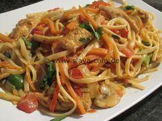 scharfe Chicken Pasta « kochen & backen leicht gemacht mit Schritt für Schritt Bilder von & mit Slava