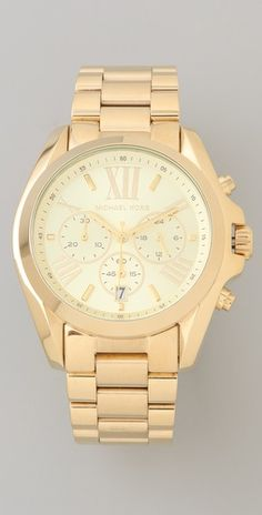 Love this gold Michael Kors watch.