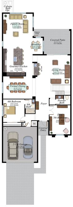 Somerset Grande Plan   Florida Real Estate - GL Homes Modern House Floor Plans, House Plans, Concrete Roof Tiles, Undermount Stainless Steel Sink, Boca Raton Florida, Iron Balusters, Glass Shower Enclosures, Wood Stairs, Apartment Plans