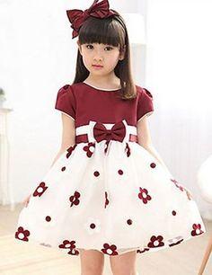 Venta al por mayor vestidos para niñas grandes flores ropa-Compre ... e45c555e0604