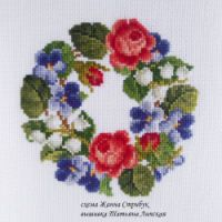 Gallery.ru / Фото #105 - фото вышитых работ по моим схемам - pustelga Cross Stitch Flowers, Cross Stitch Patterns, Embroidery, Cards, Card Ideas, Cross Stitch Pictures, Trapper Keeper, Dots, Needlepoint