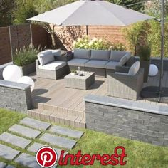 Ways To Decorate Your Patio Check out these modern patios and deck ideas.Check out these modern patios and deck ideas.Modern Ways To Decorate Your Patio Check out these modern patios and deck ideas.Check out these modern patios and deck ideas. Modern Garden Design, Backyard Garden Design, Fence Garden, Garden Design Ideas, House Garden Design, Terrace Garden, Garden Art, Terrace Decor, Back Garden Design