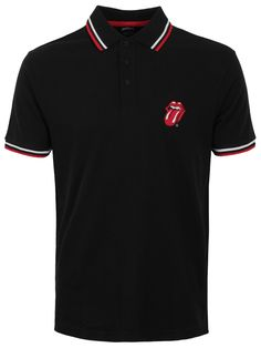 Finally get some satisfaction with this awesome polo shirt from The Rolling Stones. Channel your inner Mick Jagger and be the coolest person in the room when you rock this epic tee. Featuring the band's iconic tongue logo, this is a fashion essential for when you're ridin' 'round the world or tryin' to make some girl. Official merch.