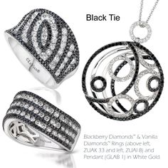 While black and white has been a long time staple of fine jewelry, Le Vian® forecasts a Black Tie look of black and white featuring the use of thin stripes of black diamonds to add a feminine touch to this trend.