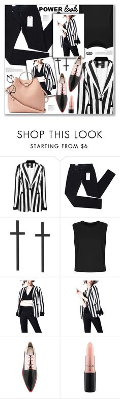 """""""LOVE YOINS"""" by nanawidia ❤ liked on Polyvore featuring Levi's, Delpozo and MAC Cosmetics"""