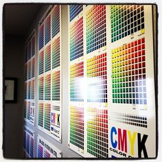 A wall covering of CMYK printed on a Roland printer