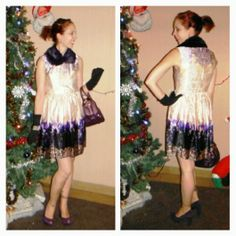 Retro Purple Haze!: featuring @Joe Fresh + @Forever 21. Read more!: http://www.thepurplescarf.ca/2013/12/Fashion-Style.Dress-Collar-Purple.Toronto-Canada.html #fashion #style