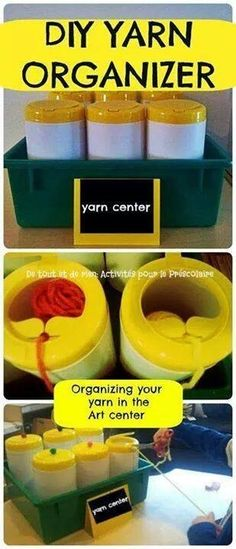 DIY yarn containers