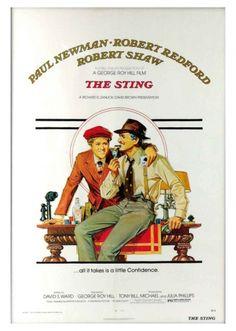 Filme: The Sting (Golpe de Mestre, 1973). Direção: George Roy Hill. Elenco: Paul Newman, Robert Redford e Robert Shaw.
