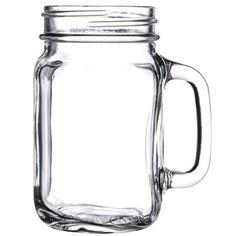 I just bought: Libbey 97084 16 oz. Drinking Mason Jar with Handle - 12 / Case
